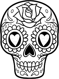 Small Picture Sugar Skull Art Coloring Pages Coloring Home