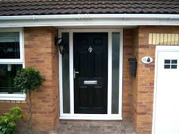 front doors with side panels door panel glass replacement black stained s