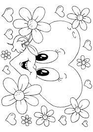Kleurplaat Bloemen Valentijn Afb 24614 Images