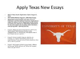 the college application landscape 13 apply texas new essays