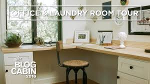 laundry office. DIY Network Blog Cabin 2016 Office + Laundry Room