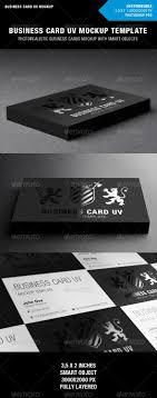 Awesome Business Card Mockup For Spot Uv Designs Uv Spot