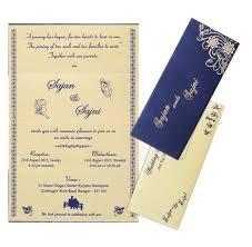 Elegant Blue Personal Marriage Card
