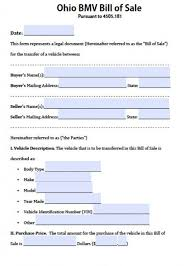 bill of sale form for auto free ohio bmv vehicle bill of sale form pdf word doc