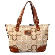 Best Style Coach Big C Signature Large Khaki Totes Ejd Outlet 4GcqI