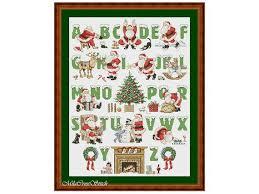 Christmas Alphabet Cross Stitch Pattern Counted Letters Xstitch Chart Modern Stitchering Ideas Pdf Embroidery Digital Design Abc