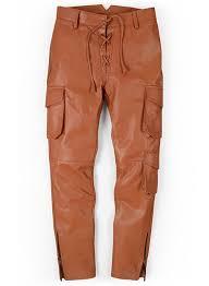 terrain brown drifter leather cargo pants