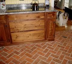 Kitchen Brick Floor Wood And Floor