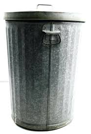 metal trash can trash can galvanized w lid metal garbage waste bin industrial steampunk loft metal metal trash can