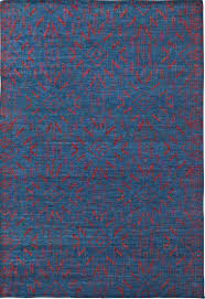 great red and teal area rug blue southwest santa fe pattern wool woodwaves