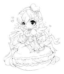 Anime Girl Coloring Page Anime Cat Girl Colouring Pages