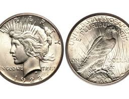 1923 Peace Silver Dollar Value Chart Peace Silver Dollar Values And Prices