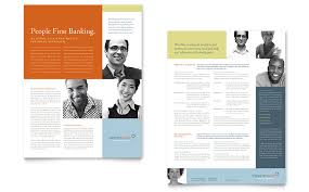 One Page Brochure Template Word One Page Handout Template ...