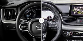 2018 audi white.  white 2018 volvo xc60 vs audi q5  digital instrument cluster and steering  wheel inside audi white