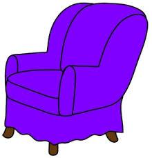 chair clipart. arm chair clipart image: clip art illustration of a purple