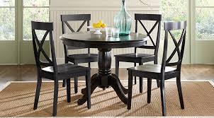 cute brynwood black 5 pc round dining set dining room sets black black round dining