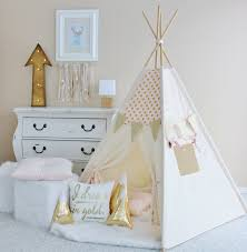 PINK with Gold Glamour Polka Dot Play Tent - Canvas, Teepee, Pink, Play  Tent, Play House, Nursery, Teepee Tent, Kids Teepee, Indoor