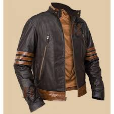 x men origins logan wolverine brown biker jacket s jackets