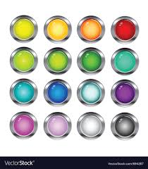 Glossy Button Set Royalty Free Vector Image Vectorstock