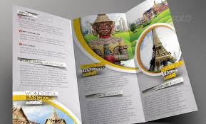 10 Beautiful Trifold Travel Brochure Tempaltes Psd Pdf Indesign