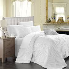 com chic home isabella 4 piece duvet cover set king white home kitchen