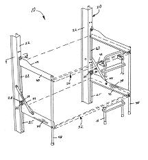 Folding Bunk Bed Patent Us20050217021 Folding Bunk Bed Google Patents