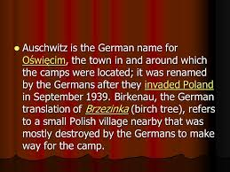the boy in the striped pajamas by john boyne background notes  auschwitz is the german for oswiecim the town in and around which the camps
