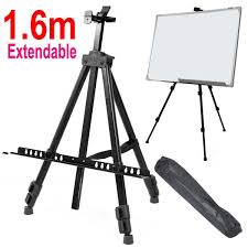 com yosoo artist field studio painting easel tripod display telescopic white board stand with carrying bag ideal for display writing board