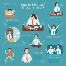 Infographics Of How To Eliminate Or Reduce Stress At Workplace