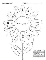 4291590c38a83ed1eeae01fe821e0a25 math coloring pages 7th grade 06 school pinterest coloring on word problems with integers worksheet