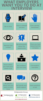 what employers want you to do at interview bridgewater uk what employers want you to do at interview infographic