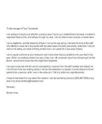 Complaint Email Template Formal Customer Letter For The