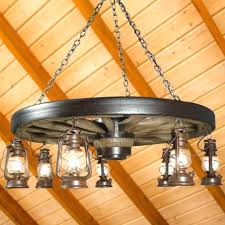 wagon wheel chandelier large with antique rustic lanterns diy wagon wheel chandelier