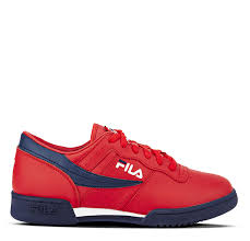 fila white sneakers. fila original fitness-red navy white sneakers