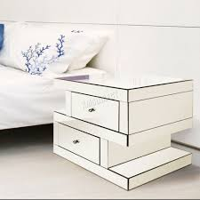 Vegas white glass mirrored bedside tables Chest Image Of White Glass Bedside Cabinet Table Javeda Interiors Vegas Mirrored Bedside Tables New Home Design Purchasing