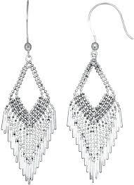 sterling silver chandelier earrings sterling silver beaded chandelier earrings sterling silver filigree chandelier earrings