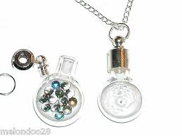 1pc glass small flat round bottle vial