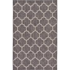 unique loom outdoor black 5 x 8 indoor outdoor rug