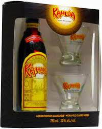 in the photo image kahlua gift box with 2 gles 0 7 l