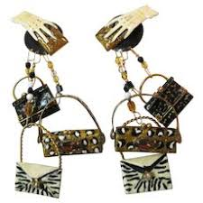 vine lunch at the ritz earrings clip on purses 1989