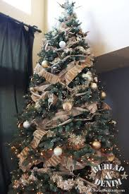 Decorating Christmas Tree With Balls How To Decorate A Christmas Tree Burlap DenimBurlap Denim 53