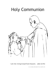 Communion For Kids Coloring Pages Printable Coloring Page For Kids