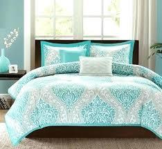 teal queen comforter. Teal Quilt Set Comforter Blue Grey Damask Scroll Print Teen Girl Bedding Twin Full Queen