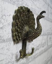 Coat Rack Hooks Hardware Peacock Decorative Wall Hook Metal Wall Hooks Antique Bronze 58