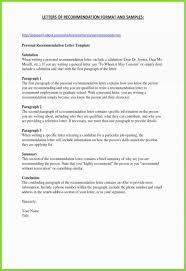 Personal Letter Of Recommendation Format 037 Personal Letter Of Recommendation Template For Friend