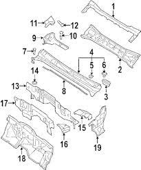 Genuine nissan cowl top panel clip nis 66820ar010