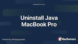 Uninstall Java MacBook Pro