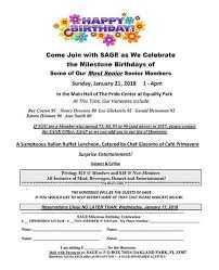 Sage Celebrates Our Members Milestone Birthdays At The Pride Center