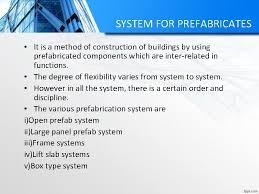 prefab system