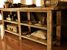 DIY TV Console Rustic tv console Consoles and TVs